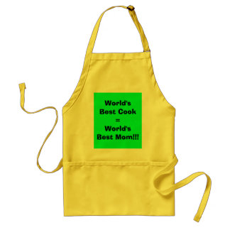 World's Best Cook=World's Best Mom!!! Standard Apron