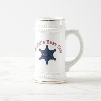 Worlds Best Cop Beer Steins