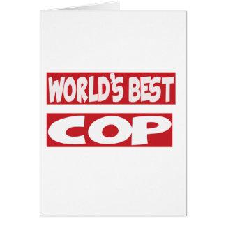 World's Best Cop. Cards