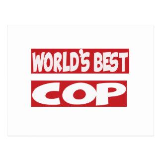 World's Best Cop. Postcards