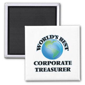 World's Best Corporate Treasurer Fridge Magnets