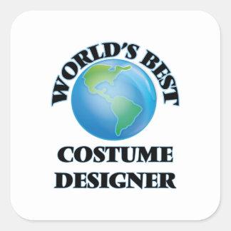 World's Best Costume Designer Square Sticker