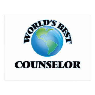 World's Best Counselor Post Cards