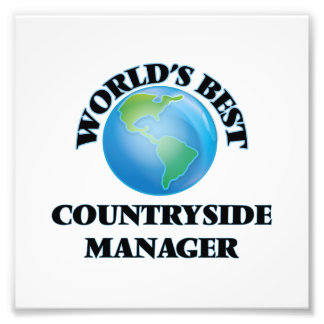 World's Best Countryside Manager Photo Art