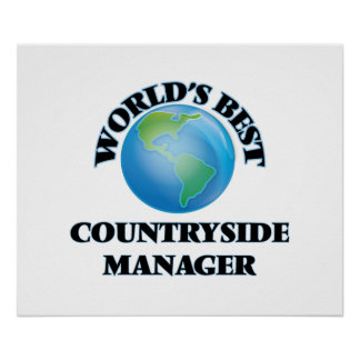 World's Best Countryside Manager Poster