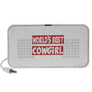 World's Best Cowgirl. Laptop Speakers