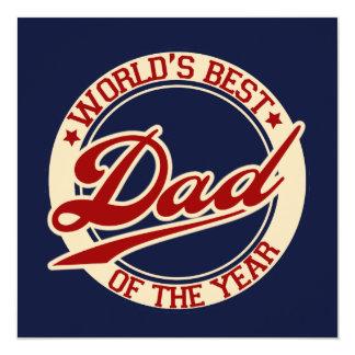 World's Best Dad 13 Cm X 13 Cm Square Invitation Card
