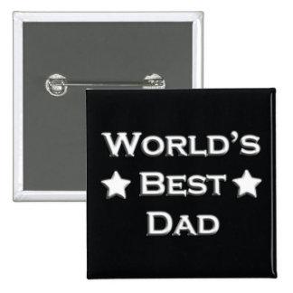 World's Best Dad 15 Cm Square Badge
