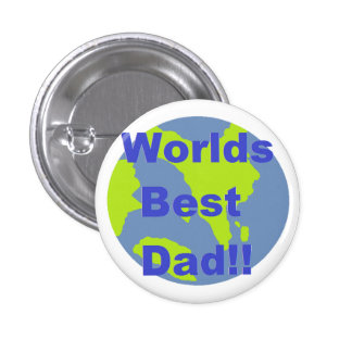 Worlds Best Dad 3 Cm Round Badge