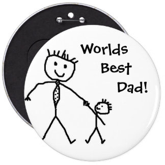 Worlds best dad! 6 cm round badge