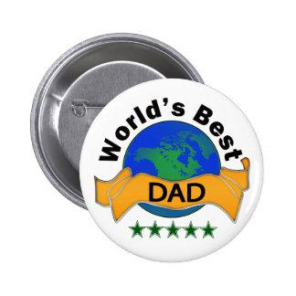 World's Best Dad 6 Cm Round Badge