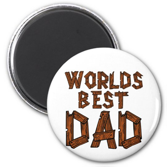 World's Best Dad 6 Cm Round Magnet