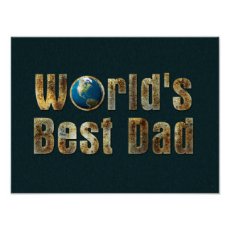 World's Best Dad | Adorable Gift Poster