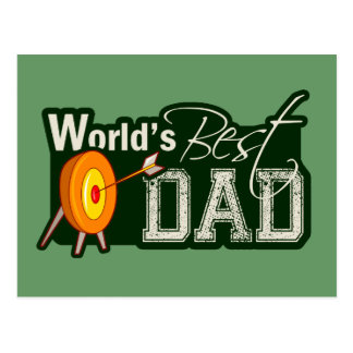World's Best Dad; Archery Postcard