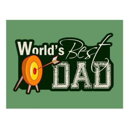 World's Best Dad; Archery Postcard