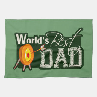 World's Best Dad; Archery Tea Towel