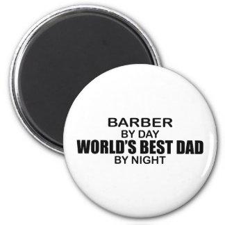 World's Best Dad - Barber 6 Cm Round Magnet