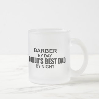 World's Best Dad - Barber Frosted Glass Mug