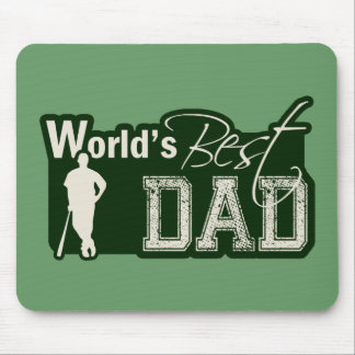 World's Best Dad; Baseball Mouse Pad