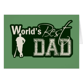 World's Best Dad; Baseball Note Card
