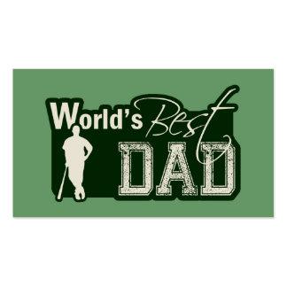 World's Best Dad; Baseball Pack Of Standard Business Cards