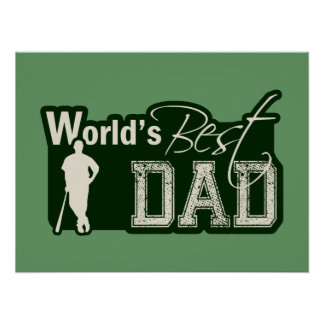 World's Best Dad; Baseball Poster