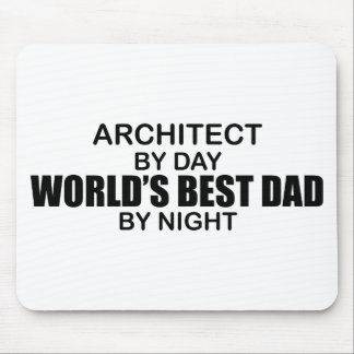 World's Best Dad by Night - Architect Mouse Pad