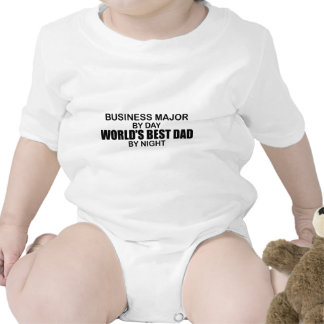 World's Best Dad by Night - Business Major Baby Bodysuits