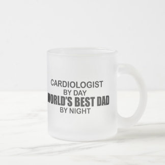 World's Best Dad - Cardiologist Frosted Glass Mug