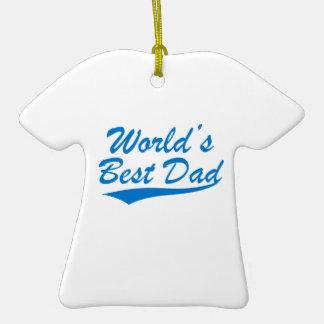 World's Best Dad Ceramic T-Shirt Decoration