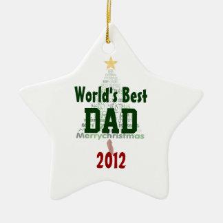 World's Best Dad Christmas Tree Ornament