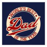 World's Best Dad Custom Invitation