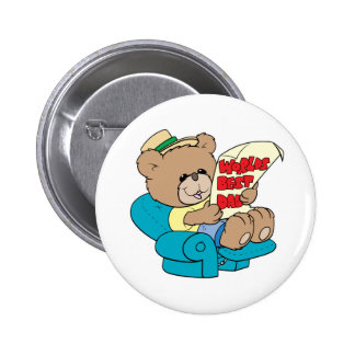 worlds best dad cute fathers day teddy bear design 6 cm round badge