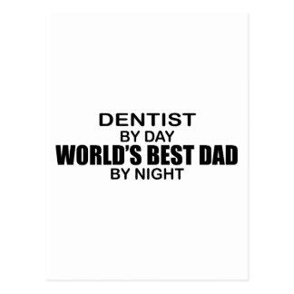 World's Best Dad - Dentist Postcard