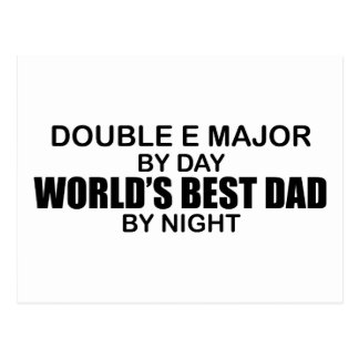 World's Best Dad - Double E Major Postcard