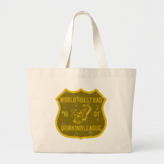 World's Best Dad - Drinking League Jumbo Tote Bag