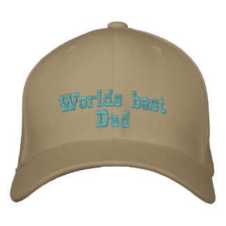 Worlds best Dad Embroidered Hats