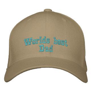 Worlds best Dad Embroidered Hats