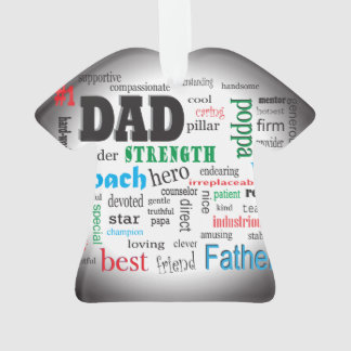 Worlds Best Dad Father Word Cloud Ornament