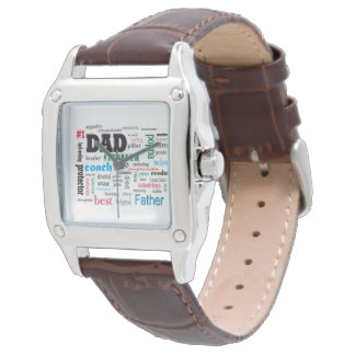 Worlds Best Dad Father Word Cloud Watch