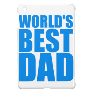 worlds best dad fathers day blue text design iPad mini case