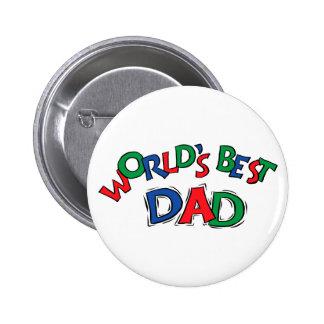 World's Best Dad Gift 6 Cm Round Badge