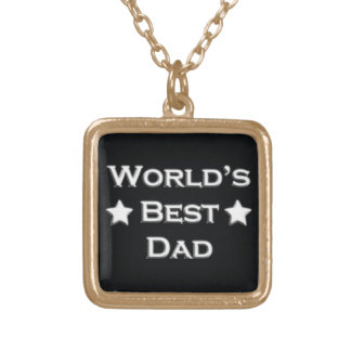 World's Best Dad Gold Plated Necklace