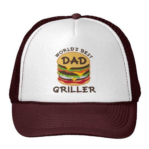 World's Best Dad Griller BBQ Theme Gift Cap