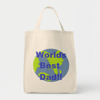 Worlds Best Dad Grocery Tote Bag
