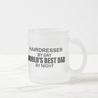 World's Best Dad - Hairdresser Frosted Glass Mug