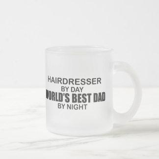 World's Best Dad - Hairdresser Frosted Glass Mug