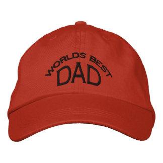 World's Best Dad Hat (dark letters) Embroidered Cap