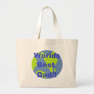 Worlds Best Dad Jumbo Tote Bag