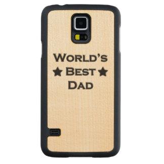World's Best Dad Maple Galaxy S5 Slim Case